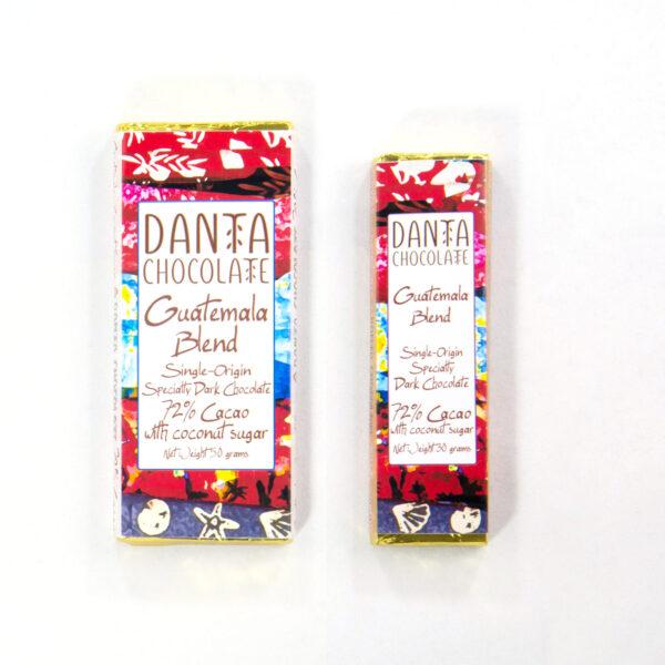 Barra de Chocolate Oscuro 72% Cacao Guatemala Blend con Azúcar de Coco