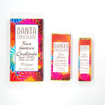 Barra de chocolate oscuro 70% cacao Finca Kampura