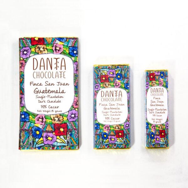 Barras de chocolate de Finca San Juan 70% cacao
