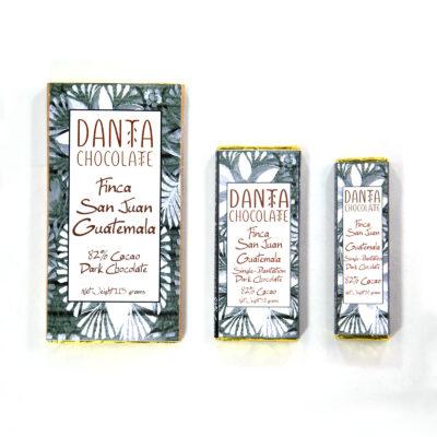 Barra de chocolate oscuro 82% cacao de Finca San Juan