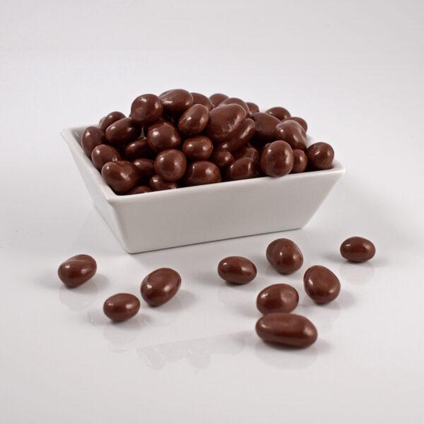 pasas cubiertas de chocolate de leche